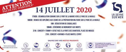 La Fête Nationale 2020 à La Seyne sur Mer, le 14 Juillet -