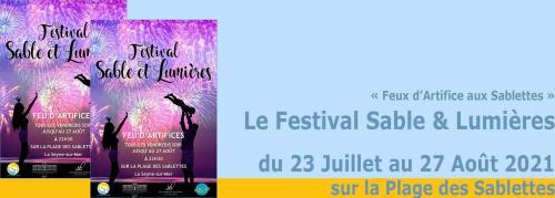 Feux d'Artifice aux Sablettes: Le Festival Sable et Lumières 2021, tous les Vendredis Soirjusque fin Août -