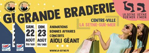 La Grande Braderie de La Seyne-sur-Mer, les 22 et 23 Août 2020 -