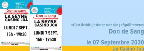 Don de Sang à La Seyne, le 07/09/2020 -