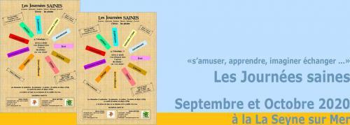 Les Journées saines 2020 à La Seyne, en Septembre et Octobre -