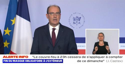Fin de l'Obligation du Port du Masque en Extérieur, à partir du 17/06/2021 et Couvre-Feu levé dès ce Dimanche -