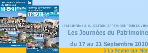 Les Journées du Patrimoine 2020, du 17 au 21 Septembre à La Seyne sur Mer -